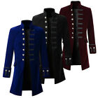 Slim Men's Coat Steampunk Retro Tailcoat Jacket Gothic Coat Uniform YG