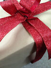 IT'S BEGINNING TO GLITTER RED like Christmas  -  Luxury Wire Edged Ribbon