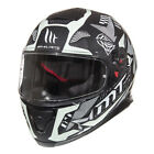 MT Thunder 3 SV Fractal GLOW In The DARK Motorcycle Motorbike Crash Helmet