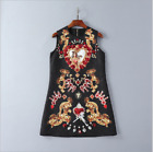 Christmas Occident high-end nail bead set auger fashion printed vest dress SMLXL