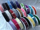 SHEER ORGANZA Three Kings ribbon 15mm - 25 SHADES - 10m reel   **SEE MULTIBUY**