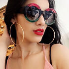 Fashion Retro Sunglasses Vintage Round Frame Eyewear Oversized For Women Girls A