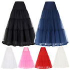 Beautiful Long Tulle Crinoline Costume Underskirt For Bridal Wedding Dress S-XL