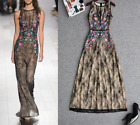 New Christmas Occident runway sexy enchanting lace embroidery makings long dress