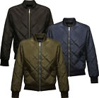 Regatta Mens Diamond Quilted Bomber Jacket Coat with Water Repellent Finish