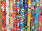 2 & 3 Meter Roll TV/FILM CHARACTER Novelty Disney Gift wrap Wrapping Paper Craft