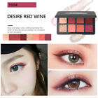 8 Colors Eyeshadow Palette Pigment Glitter Red Peach Color Makeup Kit Gift