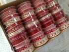 CHRISTMAS MINI Ribbon - 10 & 15mm - 12 designs on reels - *SEE MULTI BUY OFFER*