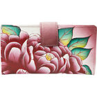 ANNA by Anuschka Hand Painted Leather Two Fold Women's Wallet NEW