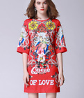 New Occident hot sale Classy Printed fashion bead set auger Party Cocktail dress