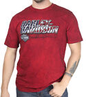 Harley-Davidson Mens Ride with Honor B&S Black Washed Red Short Sleeve T-Shirt