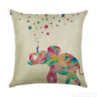 Cushion Office Decor Cotton Throw Hugging Cases Linen Pillow Cover Elephant Sofa