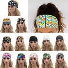 Women Hair Band Boho Turban Wide Sports Yoga Headband Stretch Hairband Elastic