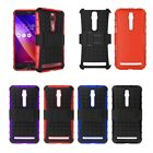 """Hybrid Rugged Grip Armor Cover Stand Phone Case For ASUS 5.5"""" Zenfone 2 ZE551ML"""