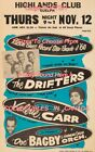 "THE DRIFTERS 1960 Concert HIGHLANDS CLUB Guelph Ontario = POSTER 7 SIZES 19""-36"""