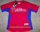 New Philadelphia Phillies Majestic Stitched Red Home Jersey Mens Sizes