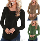Womens Casual Long Sleeve Shirt Tops Loose Blouse Ladies Lace Top Jumper Fashion