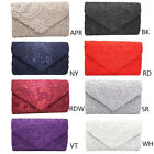 Lady Stylish Handbags Lace Floral Envelope Clutch Purse Evening Party Bag Gift