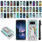For Samsung Galaxy S8 Active G892A Hybrid Bumper Shockproof Case Cover + Pen