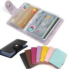 Men Women 24Cards ID Credit Card Holder PU Leather Pocket Case Purse Wallet US