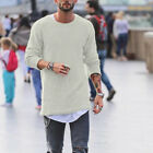 New Casual Men's Long Sleeve  Knit Sweater Slim Fit Boys Cardigans Blouse 32