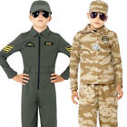 Army Boys Fancy Dress Military Soldier Wartime Childrens Kids Costume Outfit New