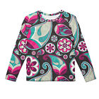 Sassy Paisley Kids Longsleeve Cotton Blend T-Shirt Unisex