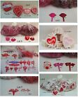 Pick Your Lot Plastic Valentine Picks and Cake Toppers