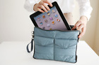 Multifunctional Portable Soft Tablet Carry Bag Zip Nylon Organizer Case for iPad