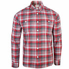 EDWIN SHIRT LABOUR MENS RED AND GREY LONG SLEEVE CHECK TOP