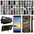 "For Samsung Galaxy Note 8 N950 6.3"" Hybrid Dual Layer Kickstand Case Cover + Pen"
