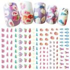 Cute Women Girls Nail Art Stickers DIY Nail Decorations Decals Wraps Manicure