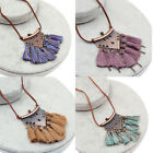 Boho Ethnic Style Long Tassel Pendant Necklace Sweater Chain Jewelry for Women