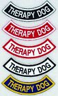 Therapy Dog Rocker Patch Service Medical Assistance Support Disabled Danny Luann