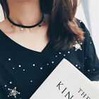 Hot Simple Woman Silver Gold Alloy Star Necklace Choker Collar Chain Jewelry
