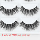 20 Pairs Thick 3D False Eyelashes Makeup Cross Eye Lashes Extensions Sanwood