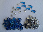 DOLPHIN GEMS *50, 100 or With Splashes* FLAT BACKED BLUE ACRYLIC DOLPHINS 13mm