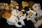 W-F-L Ty Wild Wild Best Stuffed Toy 25 Cm Selection Lion Tiger Bear Penguin Wolf