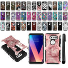 "For LG V30 6"" LG V30+ Plus H930 VS996 Hybrid Duty Kickstand Case Cover + Pen"