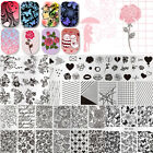 BORN PRETTY Nail Stamping Plates Valentine's Day Rose Nail Art Imgae Templates