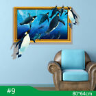 3D Cartoon Animal Dolphin Wall Stickers Art Decal Kids Home Room Mural Decor DIY