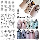 Nagel Sticker Halskette 3D Nail Art Tattoo Decal Aufkleber Nagelsticker