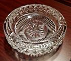 Beautiful Large & Very Heavy Round Waterford Crystal Glass Ash Tray Shows Wear