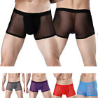 Sexy Boy Mens Cool Breather Mesh Lingerie Boxer Eveeryday Underwear Boxer Trunks