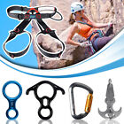 Rock Climbing Rappelling Harness Aluminum Carabiner Locking Gear Grappling Hook
