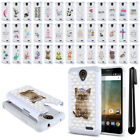 For ZTE Prestige N9132 Z832 2nd 2016 Crystal Sparkle HYBRID Case Cover + Pen