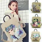 Women Girl's Hand Painted Canvas Backpacks Rucksack School Satchel Bookbags
