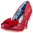 Irregular Choice Nick Of Time Womens Red Synthetic Casual Shoes Slip-on