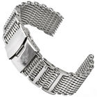 Shark Mesh Polished 20 22 0 15/16in Milanaise Watchband 10685.22oz 0 5/32in 4 X
