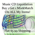 New Music CD Liquidation Sale ** Artists: A-A #121 ** Buy 1 Get 1 flat ship fee